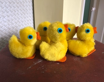 Vintage Baby Duckling Beanie Soft Toy