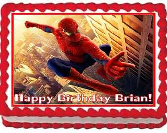 Spiderman Frosting Sheet Edible Cake Topper Image 1/4 Sheet