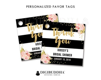 FAVOR TAGS Bridal Shower Favor Tag Thank You Tag Baby Shower Favor Tag Label Tags Gift Tag Party Favor Tag DIY Printable or Printed - Krissy
