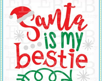 Santa Bestie SVG - This design is to be used on an electronic cutting machine. Instant Download