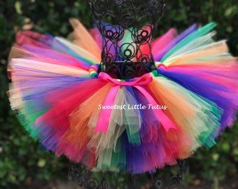 Rainbow Tutu/ Birthday Tutu/ Unicorn Birthday/ Candy Tutu/ Circus Tutu/ Rainbow Baby Tutu