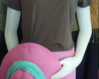 Bark Brown Short Sleeved Jersey /by J Jill /Approx.Size M (See Measurements)