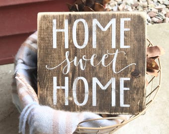 Home sweet home, Mini signs, Small gifts, Wood signs, Home signs