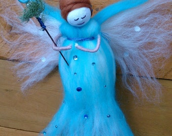 Serene Wool Felt Fairy.  Emerenta. wool felt fairy