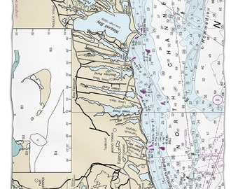 Map blanket etsy ma falmouth ma nautical chart fleece throw blanket map blanket gumiabroncs Gallery