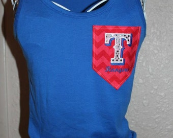 Texas Rangers Baseball Tank Top