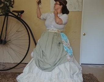 Steampunk Inspired Civil War Style Multi Layered Hoop Skirt