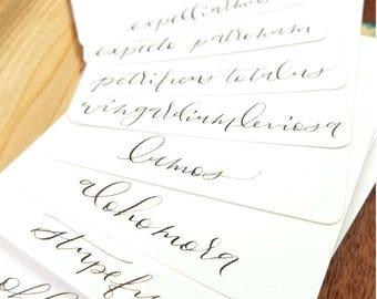 Set of 8 Harry Potter Flat Note Cards : Handwritten