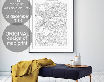 London map, London city, London print, London city map, London poster, London map poster, London, map of London, black and white map, maps