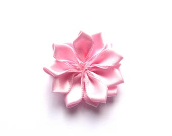 Pink rayon fabric flower