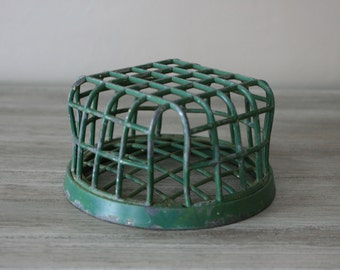 Metal Cage Flower Frog / Vintage Flower Frog by Dazey Manufacturing Co