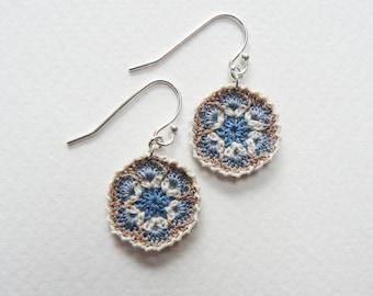 Crochet African Flower Earrings