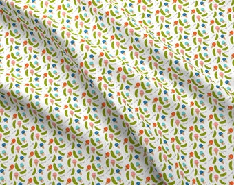 Novelty Food Fabric - Ice Cream Pickles By Ellolovey - Ice Cream and Pickles Pregnancy Cotton Fabric By The Yard With Spoonflower Fabrics