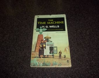 The Time Machine by H. G. Wells - soft bound - dated 1964