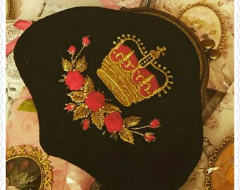Golden Red Crown purse