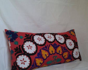 Decorative floor cushion,higy quality vintage suzani pillow,large uzbek pillow.