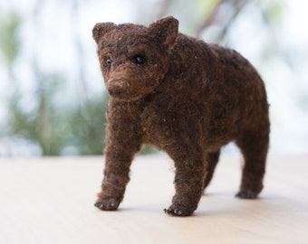 Brown Bear  Needle felted handmade wool animal