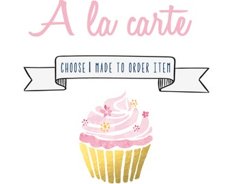 One Made to Order Item - One Custom Item Designed to Match your Theme - A la carte