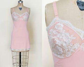 Vintage 1960s Pink Full Slip