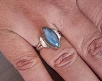 Labradorite Ring, Sterling Silver ring, Silver Labradorite Ring, size US3 - US12, handmade ring, gift idea, 925 solid sterling silver ring