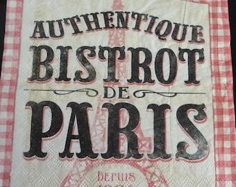 Napkin Paris Bistro