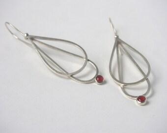 Carnelian Double Drop Earrings