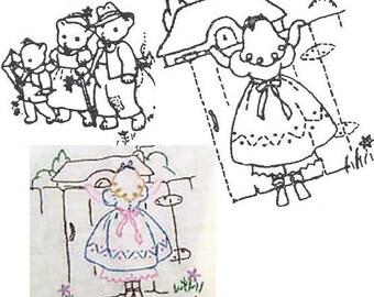 1940's Goldilocks & 3 Bears pattern embroidery ww1004