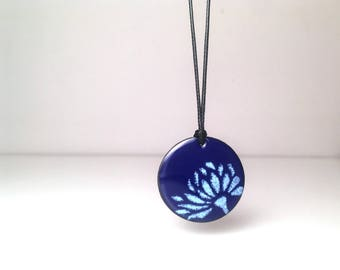 Lotus Flower, Lotus Necklace, Flower Necklace, Lotus Pendant, Lotus, Yoga Jewelry, Yoga Necklace, Lotus Jewelry, Enamel Jewelry