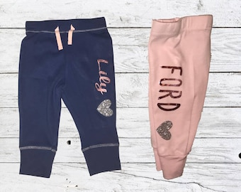 Customized Name Baby Pants - Single or Sets