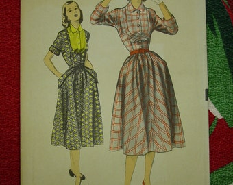Vintage Pattern 1940's Advance No.5868 Dress, Size 11