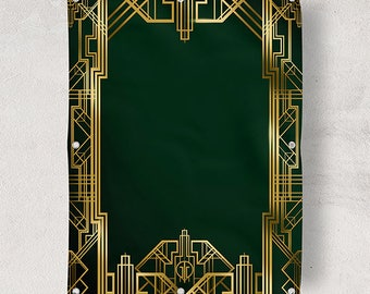 Great Gatsby Background Digital Banner Sign & PSD 4ftx4.6ft