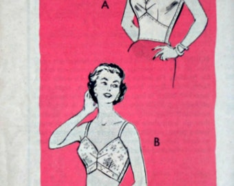 Vintage 60's Sewing Pattern, Anne Adams 4715 Bra Pattern, 36 Bust, 1960's Lingerie, Uncut