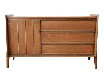 Mid-Century Modern Walnut Dresser by United Furniture