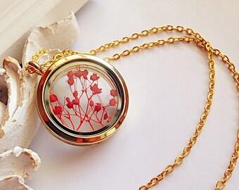 Glass medallion gold with genuine Schleierkraut active