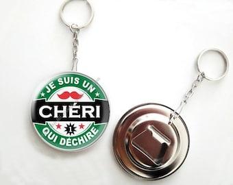 Honey - 56mm - beer bottle opener keychain