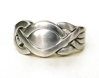 KARMEN - Unique Puzzle Rings by PuzzleRingMaker - Sterling Silver or Gold - 4 Bands