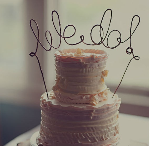 WE DO Wedding Cake Topper Rustic Decoration