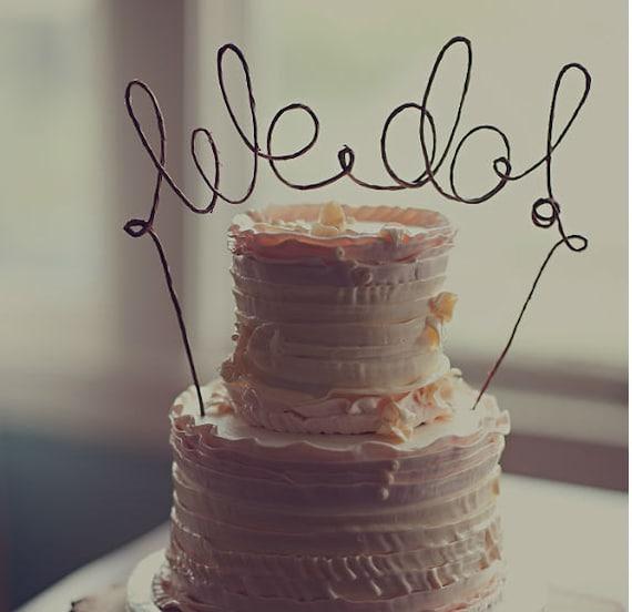 We do wedding cake topper rustic wedding cake decoration junglespirit Gallery