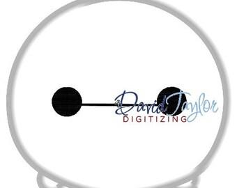 Tsum Tsum Baymax - Embroidery Machine Design - Applique - 3 sizes - Instant Download - David Taylor Digitizing