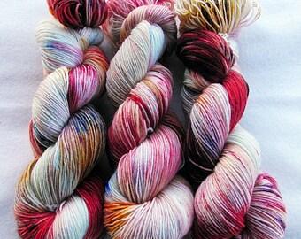 Handdyed SockYarn, 75 Wool, 25 Polyamid 100g 3.5 oz. Nr. 328