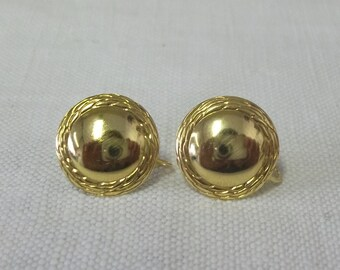 Vintage 9ct Gold Clip Earrings