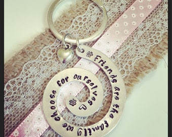 Friends are family keyring.