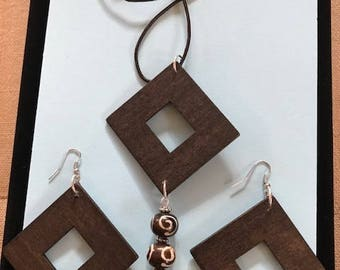 Lynda Wood Necklace and Earring Set Collection