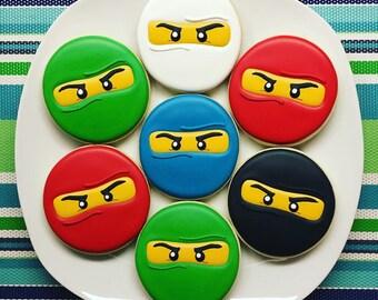 One Dozen Ninjago Sugar Cookies