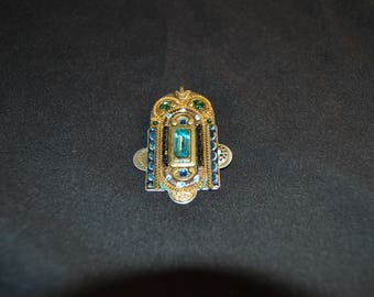 Vintage Adaya Brooch Made In Israel