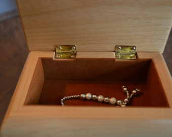 Engraved Wooden Jewelry Box