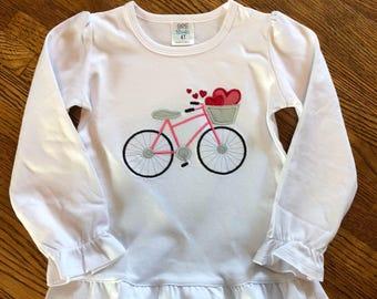 Valentine's Day bicycle shirt