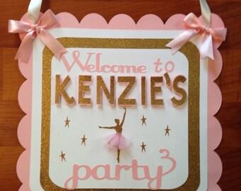 Ballerina birthday door sign,Tutu birthday,Ballerina birthday,Door signs,Ballerina party,Tutu party,Tutu birthday door sign,Birthday party