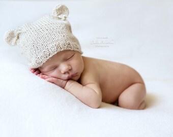 Newborn  Teddy Bear Hat
