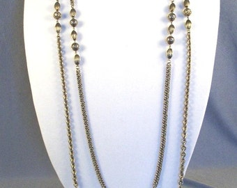 Vintage Kramer Rope Necklace // Timeless // Double Strand // Antiqued Look // Stylish // Classy // 1960/70